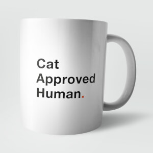Cat Approved Human. Mug