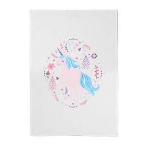Pink Unicorn Cotton Tea Towel