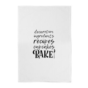 Baking Words Cotton Tea Towel