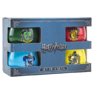 Coffret-cadeau Harry Potter – Lots de 4 mugs avec armoiries