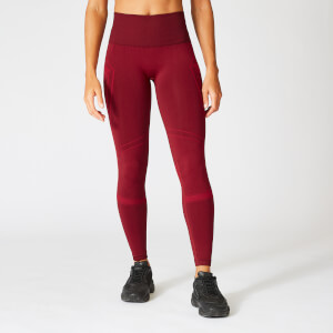 Myprotein Impact Seamless Leggings - Oxblood