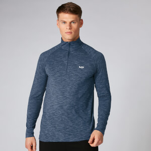 Performance ¼ Zip Top - Mørk Indigo Marl