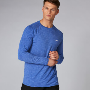 Performance Langarm T-Shirt - ultra blue marl