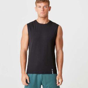 Luxe Classic Sleeveless T-Shirt - Black