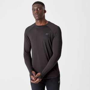 Dry-Tech Infinity Langærmet T-Shirt – Sort