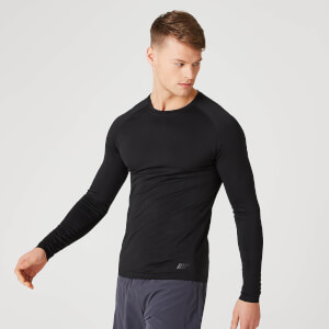 Elite Seamless Long-Sleeve T-Shirt – Zwart