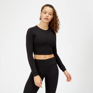 Síťovaný Power crop top