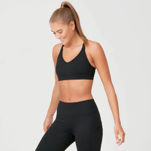 Power Mesh Sports Bra - Black