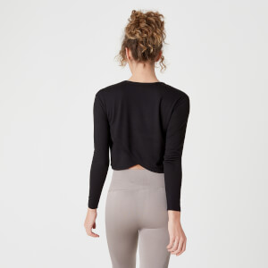 Spring Long-Sleeve T-Shirt – Schwarz