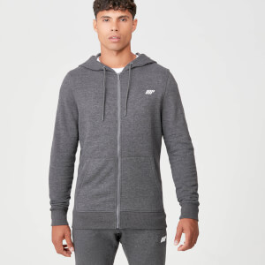Tru-Fit Full Zip Hoodie - Charcoal Marl