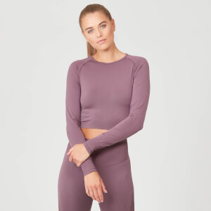 Shape Seamless Crop Top Felső - Mályva