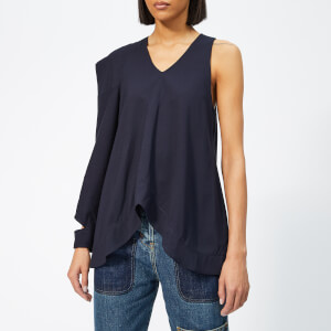 JW Anderson Women's Asymmetric Patch Pocket Top - Navy