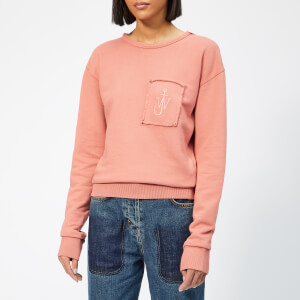 JW Anderson Women's Garment Dyed JWA Anchor Patch Sweatshirt - Dusty Rose
