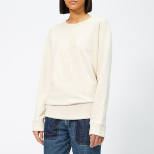 JW Anderson Women's Melange Jersey Cutout JWA Anchor Sweat Top - Calico
