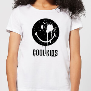 Smiley World Slogan Cool Kids Women's T-Shirt - White