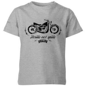 Smiley Thrills Not Spills Kids' T-Shirt - Grey