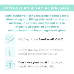 Magnitone London Barefaced 2 Tone It Up! Massaging Brush Head - 1 Pack: Image 3