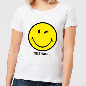 Smiley World Large Yellow Smiley Women's T-Shirt - White