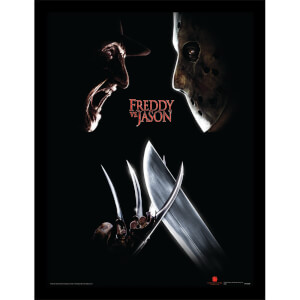 Freddy Vs Jason (Face Off) Framed 30 x 40cm Print