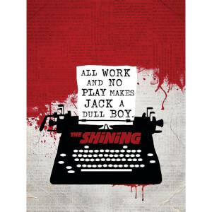 The Shining (Typewriter) 60 x 80cm Canvas Print