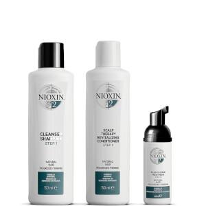 Kit de prueba del sistema 2 de NIOXIN para cabello natural con adelgazamiento progresivo