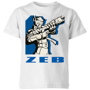 Star Wars Rebels Zeb Kinder T-Shirt - Weiß