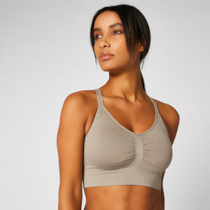 Myprotein Shape Seamless Sports Bra - Taupe