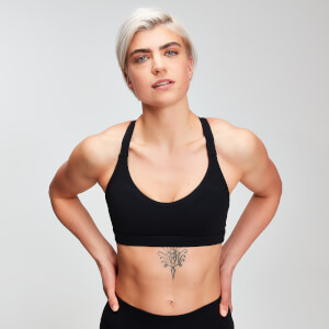 MP Women's Power Mesh Sports Bra -rintaliivit - Musta