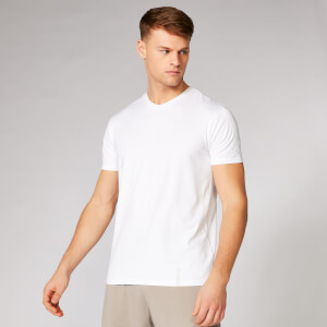 MP Luxe Classic V-Neck T-Shirt - White