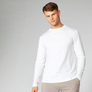 Myprotein Luxe Classic Long Sleeve T-Shirt - White
