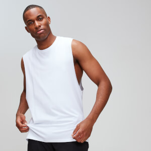 MP Luxe Classic Drop Armhole Tank Top - White
