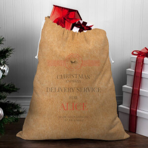 Christmas Delivery Service for Girls Christmas Sack