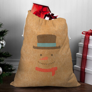 Snowman Face Christmas Sack