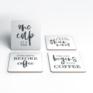 One Cup At A Time Coasters (Pack of 4)