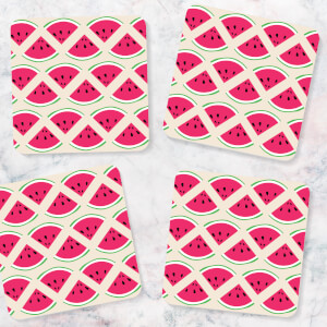 Watermelon Pattern Coasters (Pack of 4)