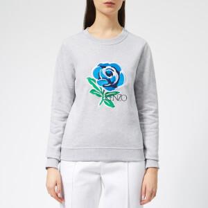 KENZO Women's Fitted Sweatshirt - Pale Grey