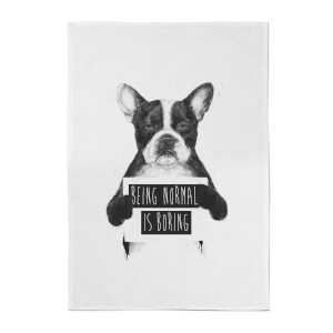 Balazs Solti Being Normal Is Boring Cotton Tea Towel
