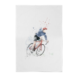 Balazs Solti Cycler Cotton Tea Towel