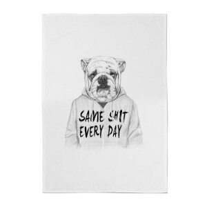 Balazs Solti Same Shit Every Day Cotton Tea Towel