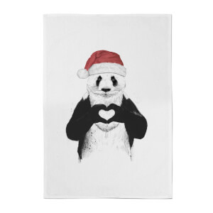 Balazs Solti Santa Bear Cotton Tea Towel
