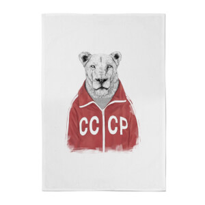 Balazs Solti CCCP Lion Cotton Tea Towel