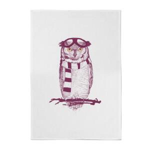 Winter Owl Cotton Tea Towel