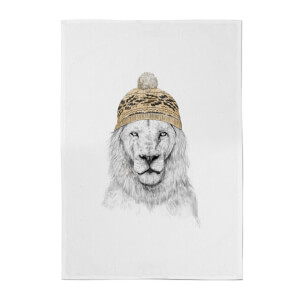 Balazs Solti Lion with Hat Cotton Tea Towel