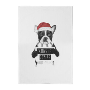 Balazs Solti Xmas Is Coming Cotton Tea Towel