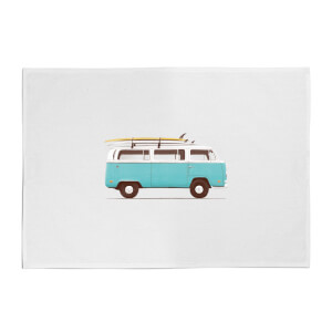 Florent Bodart Blue Van Cotton Tea Towel