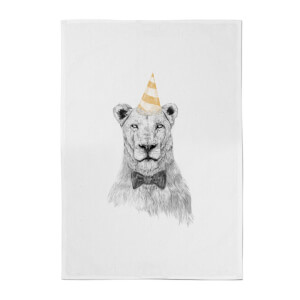 Balazs Solti Party Lion Cotton Tea Towel
