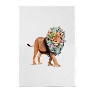 Jonas Loose Floral Lion Cotton Tea Towel