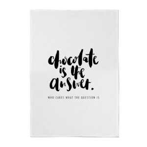 PlanetA444 Chocolate Is The Answer Cotton Tea Towel