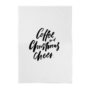 PlanetA444 Coffee and Christmas Cheer Cotton Tea Towel