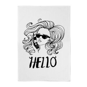 Rock On Ruby Hello Cotton Tea Towel
